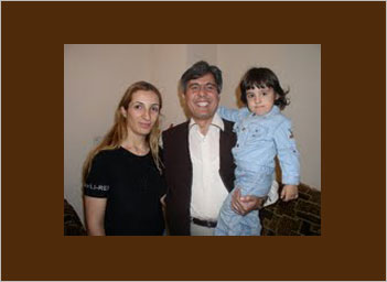 Pastor Irani with his family