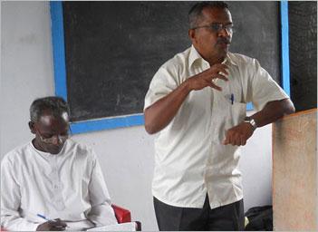 N L Hariharan with Pastor Peter Amasikan
