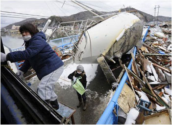 Rescue work on in Japan