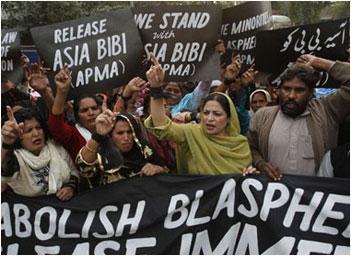 Pakistan anti-blasphemy law rally