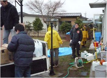 Relief work in Japan