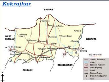 Kokrajar District map
