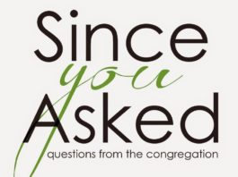 Questions from the congregation